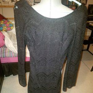 Lacy Long Sleeve Dress w/ Built-In Sleeveless